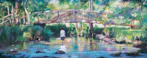 Painting of The Byes in Sidmouth